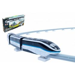 Obrázek Vlak s kolejemi plast 45ks na baterie se světlem se zvukem v krabici 54x27x7cm