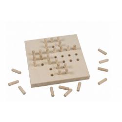 Obrázek Solitér dřevěná hra ve fólii 10x10cm