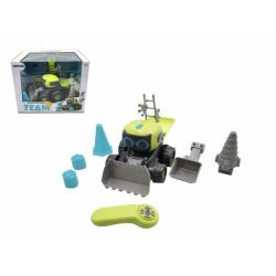Obrázek Auto/Stavební stroj RC plast 15x20cm na baterie s doplňky v krabici 32x25,5x23,5cm