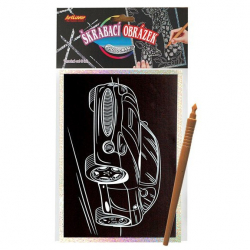 Obrázek Škrabací obrázek- Holografický 20x15 cm- auto
