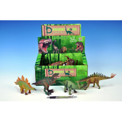 Obrázek Dinosaurus plast 15-18cm - 6 druhů 12ks v DBX