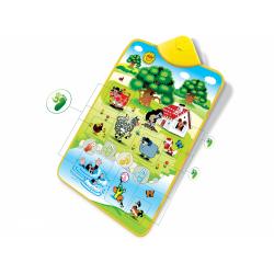Obrázek Elektronická hrací podložka Krtek a zvířátka 42x61cm