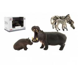 Obrázek Zvířátka safari ZOO 11cm sada plast 2ks 2 druhy v krabičce 16x11x9,5cm