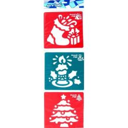 Obrázek Šablony 3 ks - strom, svíčka a vánočí bota