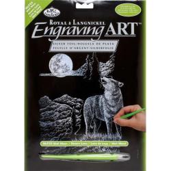 Obrázek Vyškrabovací obrázek - Vlk s měsícem