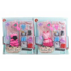 Obrázek Šaty pro panenku s doplňky