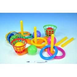 Obrázek Házecí hra kříž s košíky plast 38cm