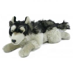 Obrázek plyšový vlk ležící 30 cm