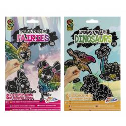 Obrázek Vyškrabávací magnety Víly + Dinosauři