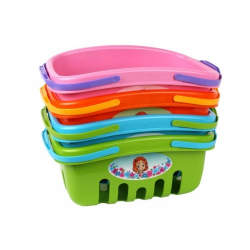Obrázek Nákupní košík plast 4 barvy 18x27x12cm