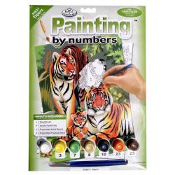 Obrázek Malování podle čísel- Tygří rodinka