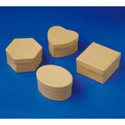 Obrázek Krabičky papírové 12ks - 4 druhy po 3 ks