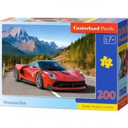 Obrázek Puzzle Castorland 200 dílků premium - Červené auto v horách