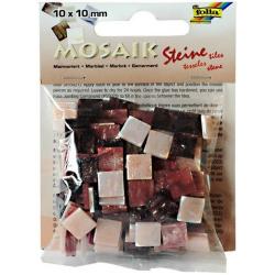 Obrázek Mozaika živicová 10x10mm- červený mramor