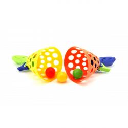 Obrázek Catch ball hra 2ks + 3 loptičky plast 19cm