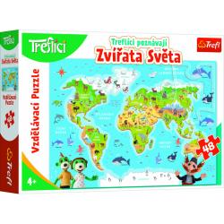 Obrázek Vzdělávací puzzle 48 - Treflíci poznávají zvířata světa