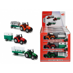 Obrázek Traktor Kovový s Přívěsem 18 Cm, Dp12, 3 druhy