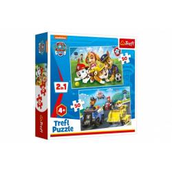 Obrázek Puzzle 2v1 Paw Patrol/Tlapková patrola 2x50 dílků v krabici 20x20x5cm