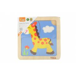 Obrázek Dřevěné puzzle - žirafa