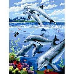 Obrázek Malování podle čísel- Delfíni