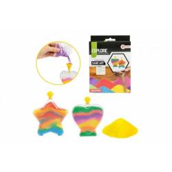 Obrázek Kreativní sada výroba z písku barevné nádoby v krabičce 13x18x3cm