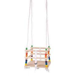 Obrázek Bigjigs Toys Dřevěná korálková houpačka