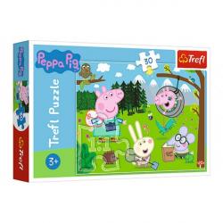 Obrázek Puzzle Prasátko Peppa/Peppa Pig Výlet do lesa 27x20cm 30 dílků v krabičce 21x14x4cm