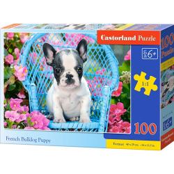Obrázek Puzzle Castorland 100 dílků premium - Štěně Francouzského buldočka