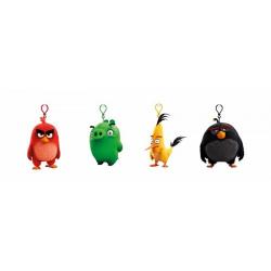Obrázek Angry Birds: 9cm plyšová hračka s nylon přívěskem - 4 druhy