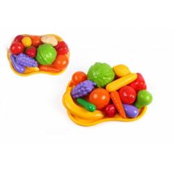 Obrázek Ovoce a zelenina s podnosem plast v síťce 32x11x23cm
