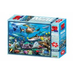 Obrázek 3D Puzzle Podmořský svět 63 dílků