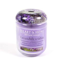 Obrázek Velká svíčka Levandule a šalvěj