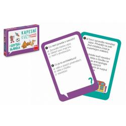Obrázek Kapesní kvízy junior - Chytrá hlavička cestovní společenská hra CZ verze v krabičce 14x10x2cm