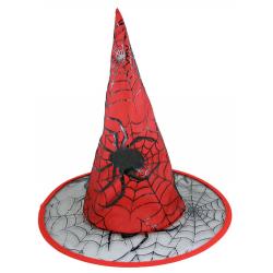 Obrázek klobúk čarodejnícky, červený, dospelá
