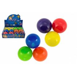 Obrázek Míček skákací glitrový guma 7cm mix barev 1ks v sáčku 12 ks v boxu