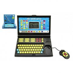 Obrázek Můj první laptop/notebook černomodrý 50 programů na baterie se zvukem v krabici 33x24x7cm