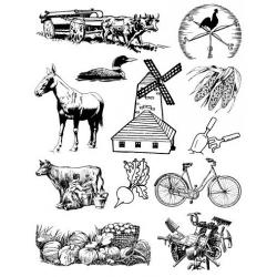 Obrázek Gelová razítka- Farma- povoz