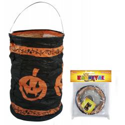 Obrázek lampion krčený Halloween 15 cm, čaj.sví