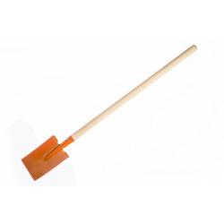 Obrázek Rýč rovný oranžový s násadou kov/dřevo 82cm nářadí