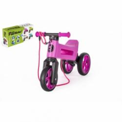 Obrázek Teddies FUNNY WHEELS Rider SuperSport fialové 2v1+popruh 28/30cm