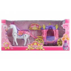 Obrázek Kůň s kočárek pro panenky malé