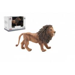Obrázek Zvířátka safari ZOO 13cm lev plast 1ks v krabičce 16x11x9,5cm