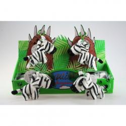 Obrázek Plyš Zebra klíčenka 24/bal