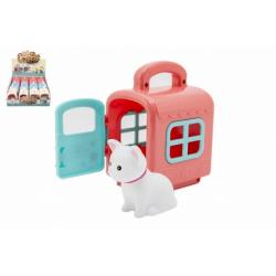 Obrázek Zvířátko v přepravním boxu plast 3 barvy 12 ks v boxu