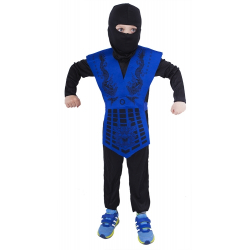 Obrázek Dětský kostým NINJA modrý (S)