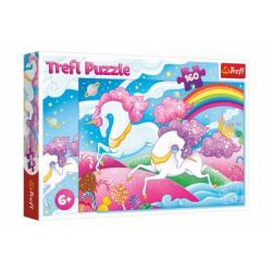Obrázek Puzzle Cválající jednorožci 160 dílků 41x27,5cm v krabici 29x19x4cm