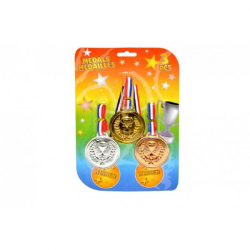Obrázek Medaile 3ks plast