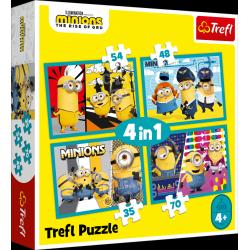 Obrázek Puzzle Mimoni 4v1