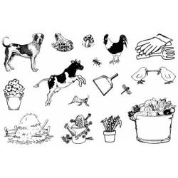 Obrázek Gelová razítka- Farma pes