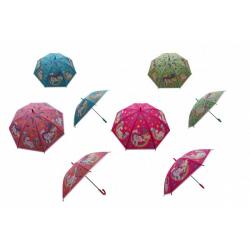 Obrázek Deštník Jednorožec 66cm vystřelovací mix barev v sáčku